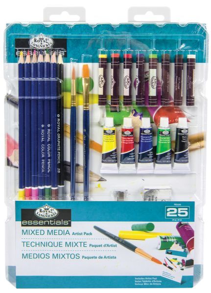 Royal & Langnickel Essentials™ Mixed Media Artist Pack - 25 Pc