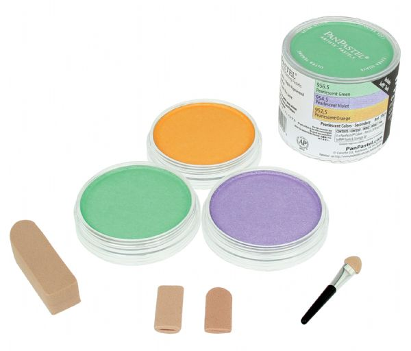 PanPastel Ultra Soft Artists' Painting Pastel Pearlescent Secondary Color Set
