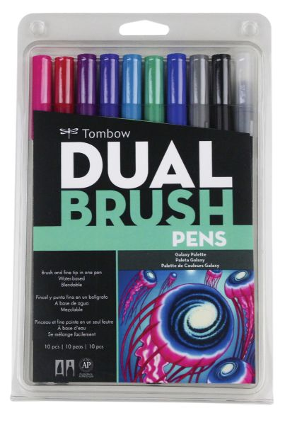 Tombow Dual Brush Pen Set, Galaxy