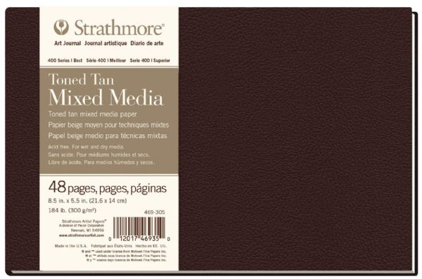 "Strathmore HB Toned Mixed Media Tan Journal 8.5"" X 5.5"""