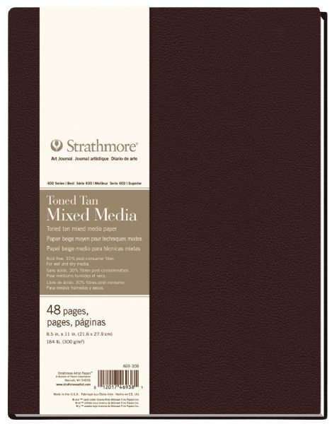 "Strathmore HB Toned Mixed Media Tan Journal 8.5"" X 11"""