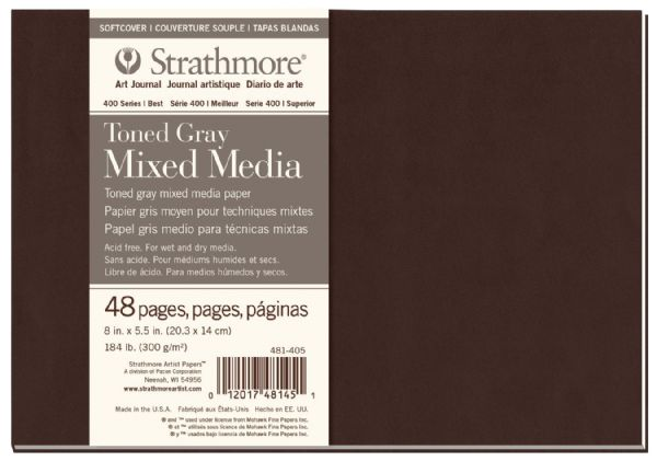 "Strathmore 400 Series Strathmore® 400 Series Toned Mixed Media Gray Art Journal 8"" X 5.5"""