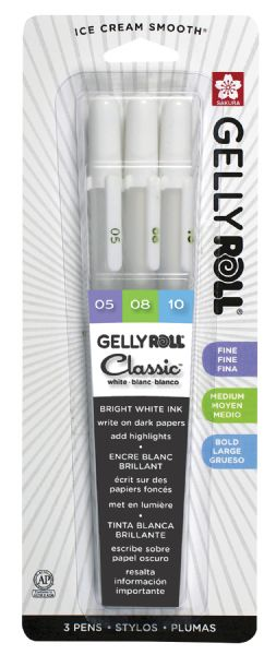 Gelly Roll Classic White 3pk
