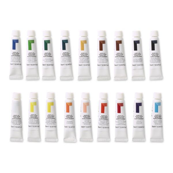 Reeves 10ml Acrylic 18-Color Set