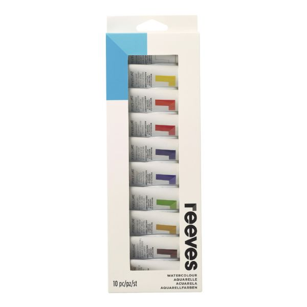 Reeves 22ml Watercolor Paint 10-Color Set