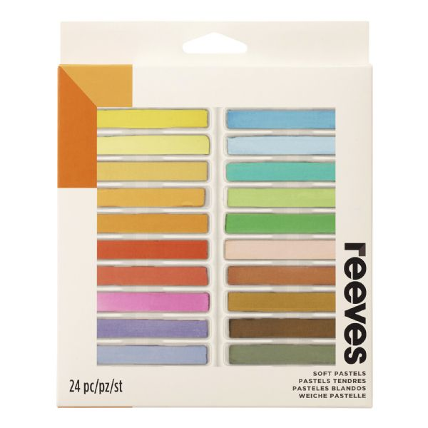 Reeves Soft Pastels 24-Color Set