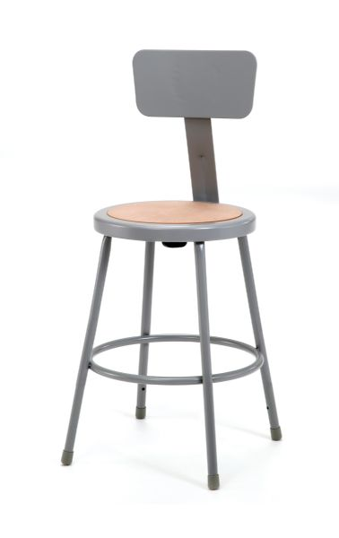 "National Public Seating Corp Stool With Adjustable Backrest 31"" - 33"""
