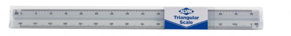 Alvin 740PM Series 30cm High Impact Plastic Metric Triangular Scale
