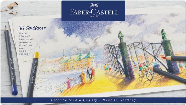 Faber-Castell Color Pencil Goldfaber Metal Tin Set Of 36