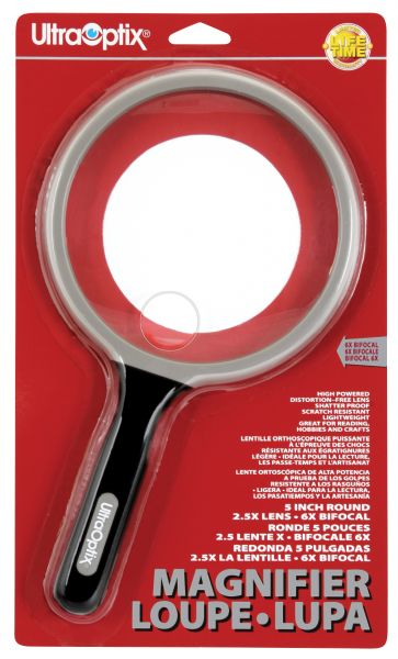 "Ultraoptix® 2.5x/6x 5"" General Purpose Magnifier"