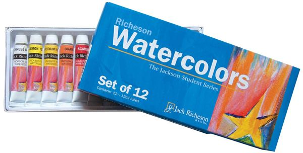 Richeson Watercolor Paint Set/12