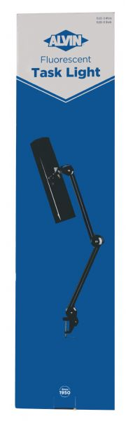 Alvin Fluorescent Task Light Black