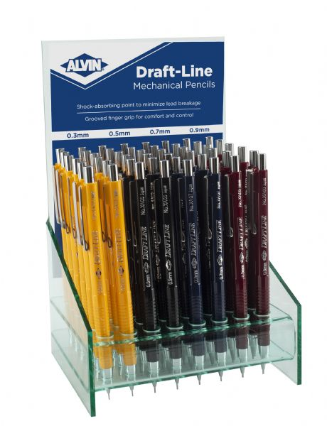 Alvin Draft-Line Mechanical Pencil Display