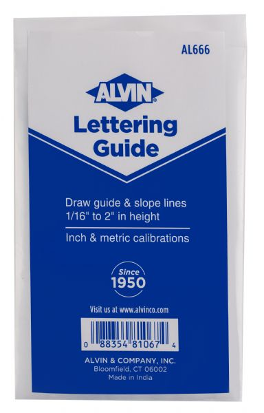 Alvin Lettering Guide & Rule Template
