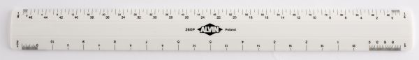 "Alvin 260 Series 12"" White Plastic Flat Architect Scale"