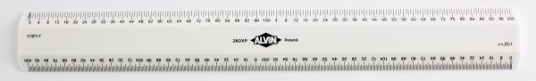 Alvin 280 Series Series 280 White Plastic Flat Scales