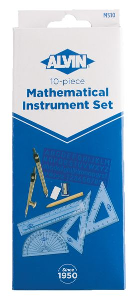 Alvin 10-Piece Mathematical Instrument Set