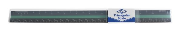 "Alvin 12"" Black Plastic Architect Triangular Scale"