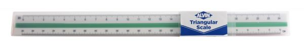 "Alvin 240P Series 12"" High Impact Plastic Engineer Triangular Scale"