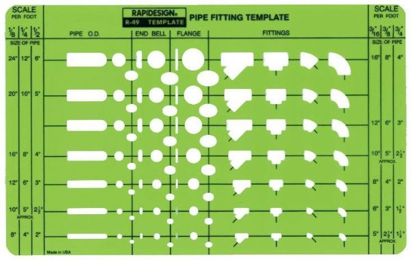 Rapidesign Pipe Fitting Template