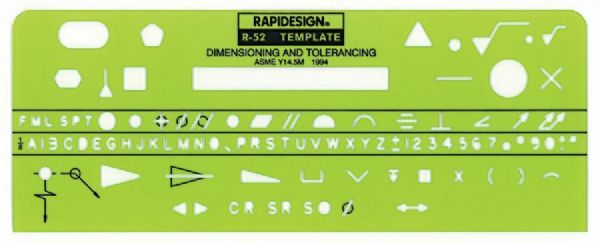 Rapidesign Dimensioning & Tolerance Template