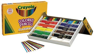 Crayola Long Colored Pencil Class Pack 240 Piece