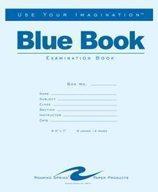 "Roaring Spring Exam Blue Books 8.5"" X 11"" 4 Sheet"