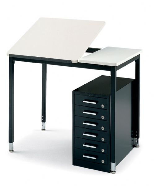 "Smith System™ Smith System Art Table: Adjustable 24""W x 24""D, Fixed 12""W x 24""D"