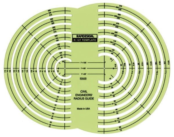 Rapidesign Civil Engineer Radius Guide Template
