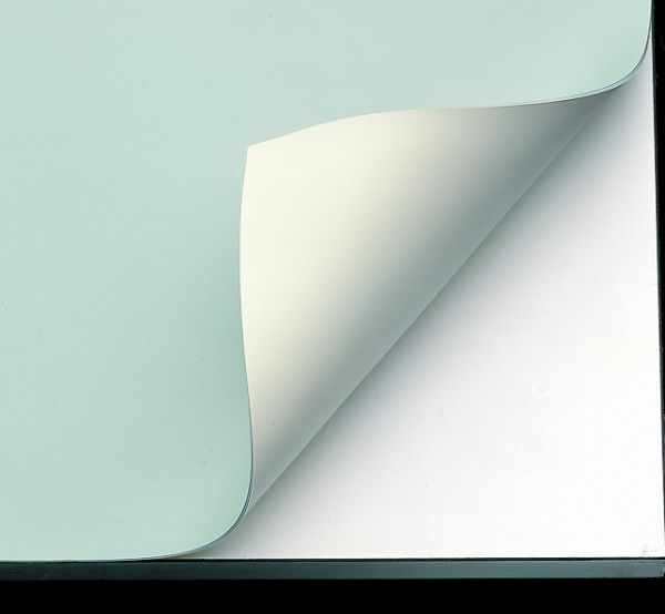 "Alvin® VYCO Green/Cream Board Cover 43 1/2"" x 72"" Sheet: Green, White/Ivory, Sheet, Vinyl, 43 1/2"" x 72"""