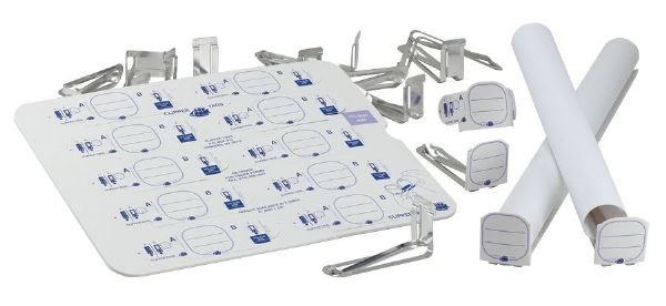 "Clipper Tags® Labeling System With 50 Tags And 2"" Clips"