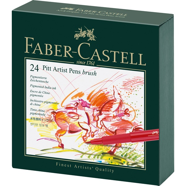 Faber-Castell PITT Artist Pen: Studio Box with 24 Colors