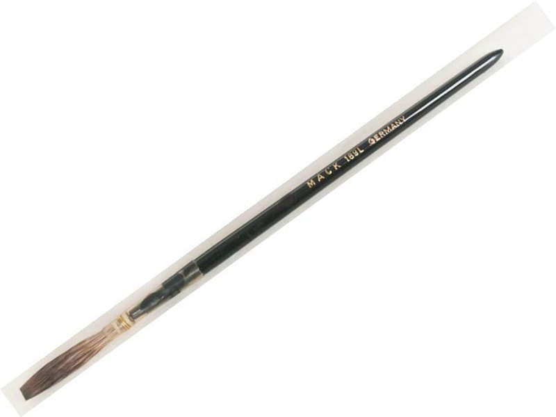 Mack Grey Pencil Quill Series 189: White Plain Wood Handle Size-7