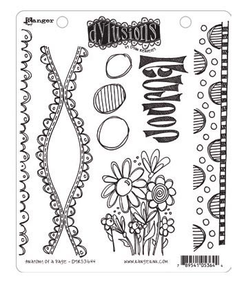 Ranger - Dyan Reaveley - Dylusions - Cling Stamps - Anatomy of a Page