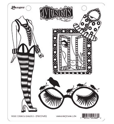 Ranger - Dyan Reaveley - Dylusions - Cling Stamps - Rose Colored Glasses