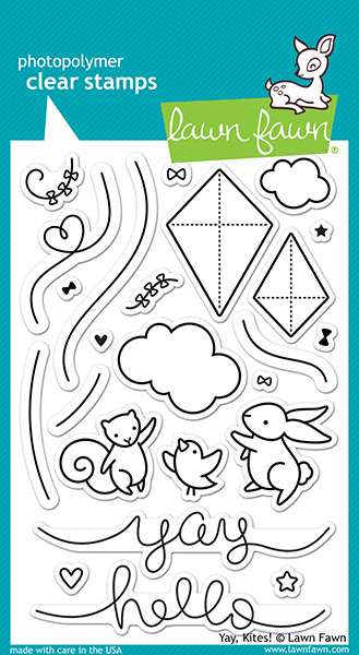 Lawn Fawn - Stamps - Yay, Kites! Stamp Set
