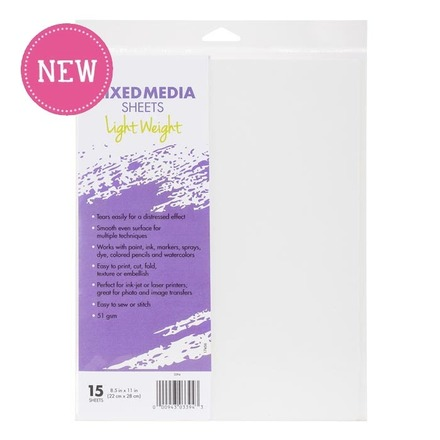 Thermoweb - iCraft - Mixed Media Sheets - Light Weight - 15 Sheets
