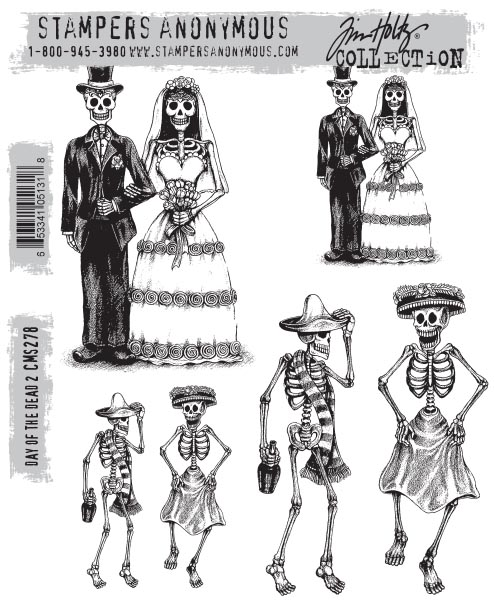 Stampers Anonymous - Tim Holtz - Day Of The Dead #2 Stamps