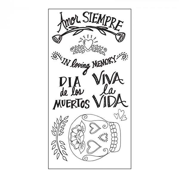 Sizzix - Crafty Chica - Clear Stamps - Day of the Dead