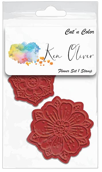 Ken Oliver - Cut 'n Color - Flower Set 1 Stamp