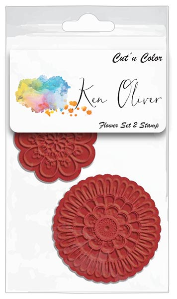 Ken Oliver - Cut 'n Color - Flower Set 2 Stamp