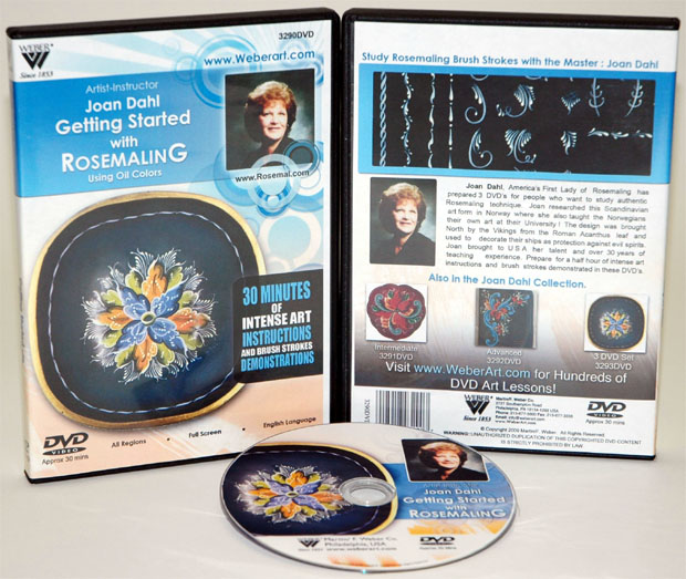 Jaon Dahl DVD: Getting Started With Rosemaling Oil Painting (1 Hour)