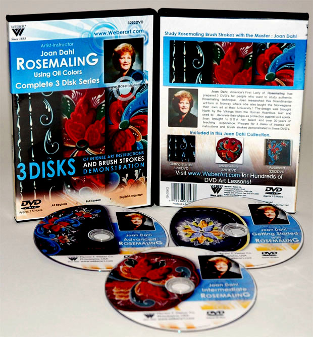 Jaon Dahl DVD: 3 Hour, 3 DVDs Series with Rosemaling Oil Painting ( 3290. 3291, and 3292)