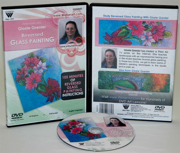 Gisele Greniers Reversed Glass Painting and Acrylic Painting Fundamentals DVD: 1.5 Hour