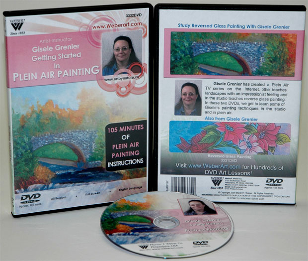Gisele Grenier's Getting Started Air Oil Painting In Plein DVD: 1.5 Hour