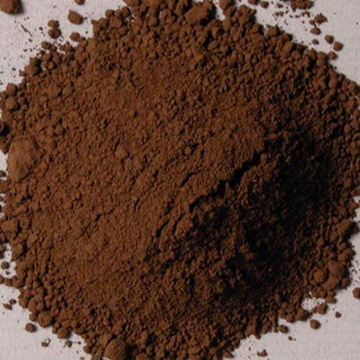 Natural Pigments Rublev Colours Cyprus Raw Umber Dark 500 g - Color: Brown