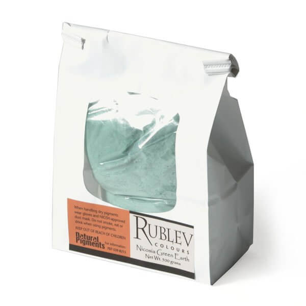 Natural Pigments Rublev Colours Nicosia Natural Pigments Nicosia Green Earth 5 kg - Color: Green