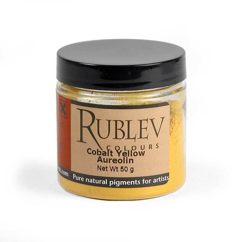 Natural Pigments Rublev Colours Cobalt Yellow (Aureolin) 50 g - Color: Yellow