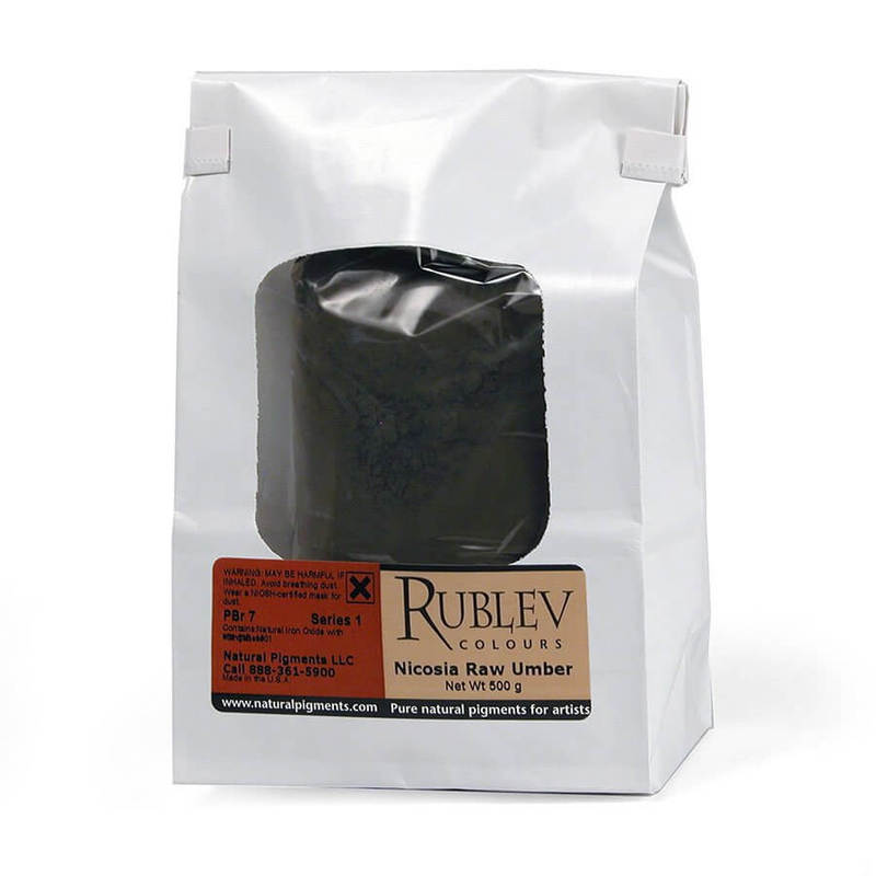Rublev Colours Rublev Colours Nicosia Raw Umber 500 g - Color: Brown