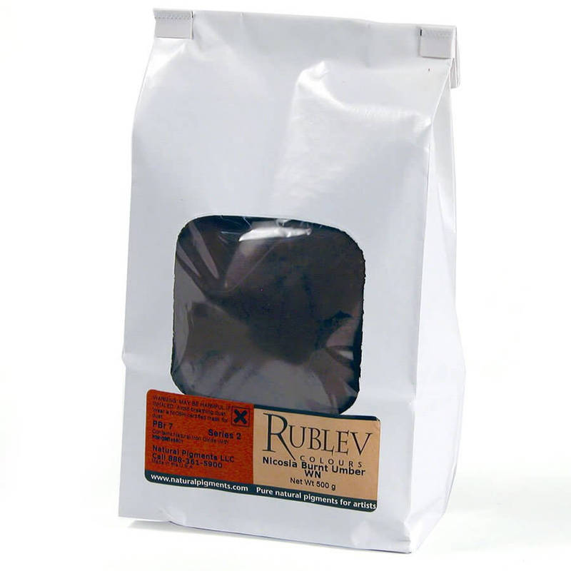 Rublev Colours Nicosia Burnt Umber WN 1 kg - Color: Brown